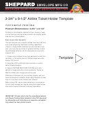 Airline Ticket Holder Template (3-3/4