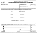 Form 4670 - Request For Relief From Payment Of Income Tax Withholding
