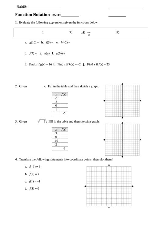Function Notation Worksheet Printable Pdf Download. Function Notation Worksheet. Worksheet. Function Notation Worksheet At Mspartners.co