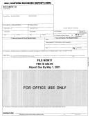 Uniform Business Report Form - 2001