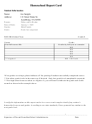 Homeschool Report Card