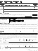 Form 8453 - California Individual Income Tax Declaration For E-file - 1998