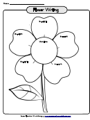 Flower Writing Template