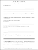 Request For External Appeal Form - Minnesota Department Of Health