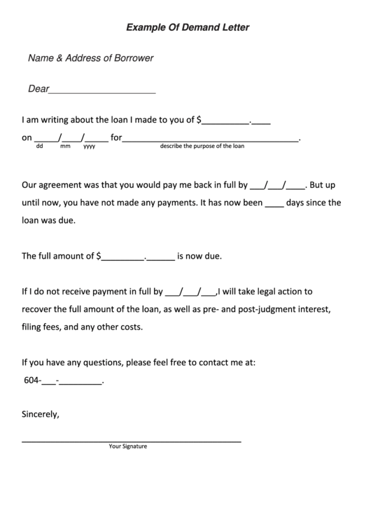 9 demand payment letter free to download in pdf