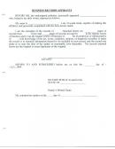 Business Records Affidavit Form