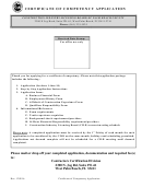 Form Cc-008 - Certificate Of Competency Application
