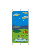 Scifi Bookmark Flying Saucers