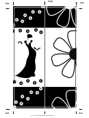 Black White Fashion Bookmark