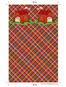 Funky House Plaid Bookmark