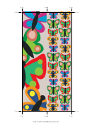 Butterfly Bookmark Template