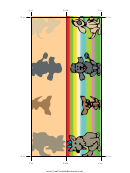 Dogs Bookmark Template