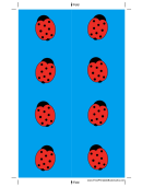 Blue Ladybugs Bookmark