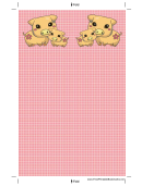 Pigs Pink Bookmark