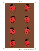 Brown Ladybugs Bookmark