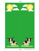 Cows Green Bookmark