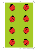 Light Green Ladybugs Bookmark