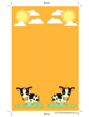 Cows Orange Bookmark