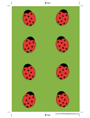 Green Ladybugs Bookmark