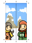 Winter Bookmark - Snow