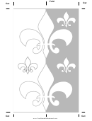 Color Fleur De Lis Bookmark
