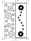 Color Flower Bookmark