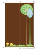 Brown Trees Bookmark
