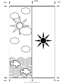 Color Sea Bookmark