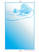 Blue Wave Bookmark