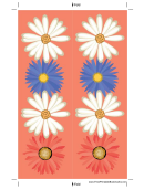 Flowers Peach Bookmark