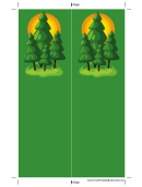 Pine Trees Green Bookmark