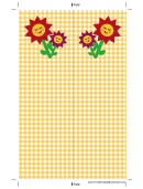 Flowers Yellow Gingham Bookmark