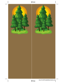 Pine Trees Brown Bookmark