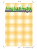 Rocks Yellow Gingham Bookmark