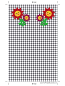 Flowers Black Gingham Bookmark
