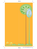 Orange Trees Bookmark