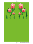 Green Flowers Bookmark