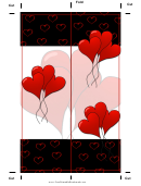 Balloon Heart Bookmark