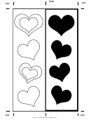 Color Heart Bookmark