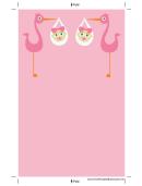 Pink Stork Bookmark