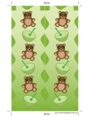 Teddy Bears Green Bookmark