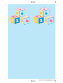 Blue Blocks Bookmark