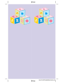 Purple Blocks Bookmark