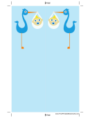 Blue Stork Bookmark