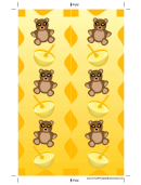 Teddy Bears Yellow Bookmark