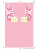 Pink Baby Bottle Monsters Bookmark