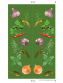 Herbs Green Bookmark