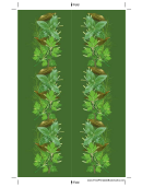 Green Herbs Bookmark