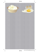 Eggs Black Gingham Bookmark