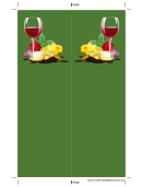 Green Wine Cheese Bookmark